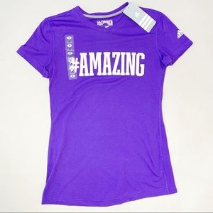 Adidas Ultimate Tee V-Neck Blast Purple Graphic T